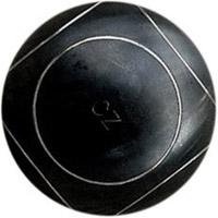 boule de pétanque intégrale cz noire striée