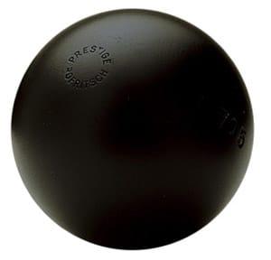 boule de petanque tres tendre noire de la boule bleue